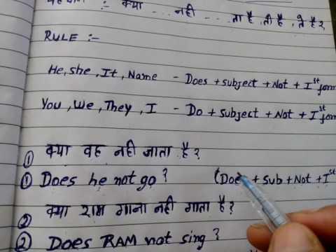 4-Interrogative+Negative Present indefinite tense in hindi ...