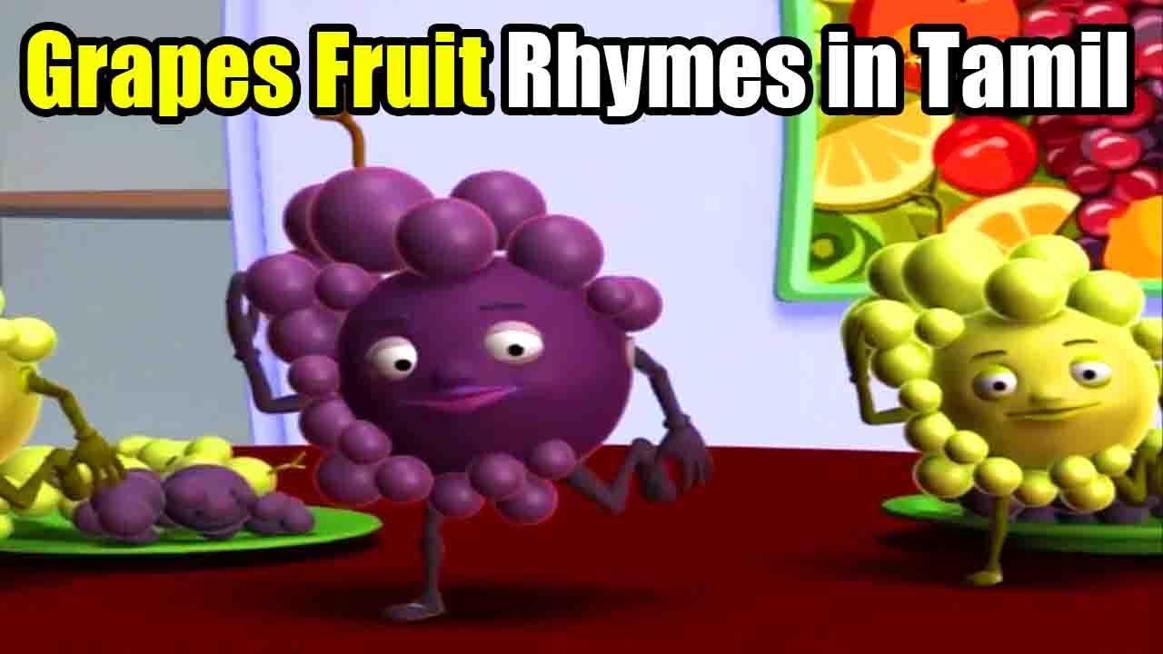 Tamil Nursery Rhymes - Grapes Fruits Rhymes - Kids Tamil Rhymes - Fruits Nursery Rhymes