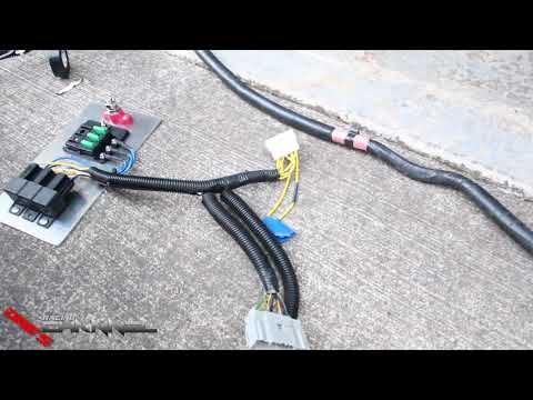 MR2 Wiring Harness Installed - YouTube