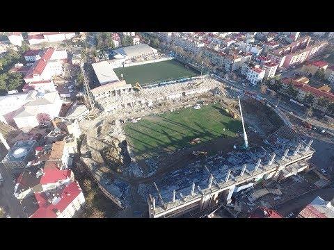 Trabzonspor'un efsanesi Avni Aker Stadı tarihe gömüldü