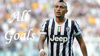 Arturo Vidal  All goals  20132014 HD