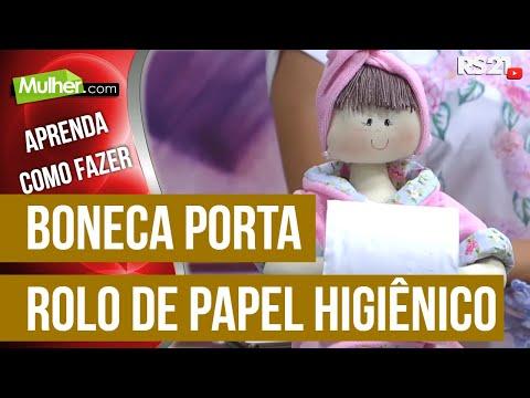 Boneca porta rolo de papel higiênico por Vivi Prado - 02/12/2015 - Mulher.com - P1/2