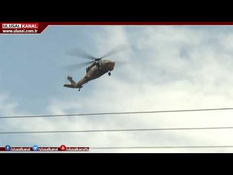 Sikorskyler Habur Sınır Kapısı'nın üstünde