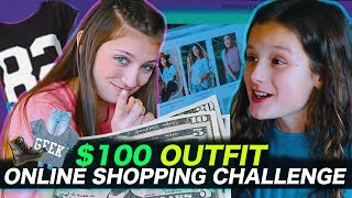 $100 Outfit Online Shopping Challenge | Hayley LeBlanc & Kamri Noel