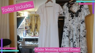 Daily Waffle 2018 :: Vlogtober Day 6 :: White Wedding Guest Dress Sewing