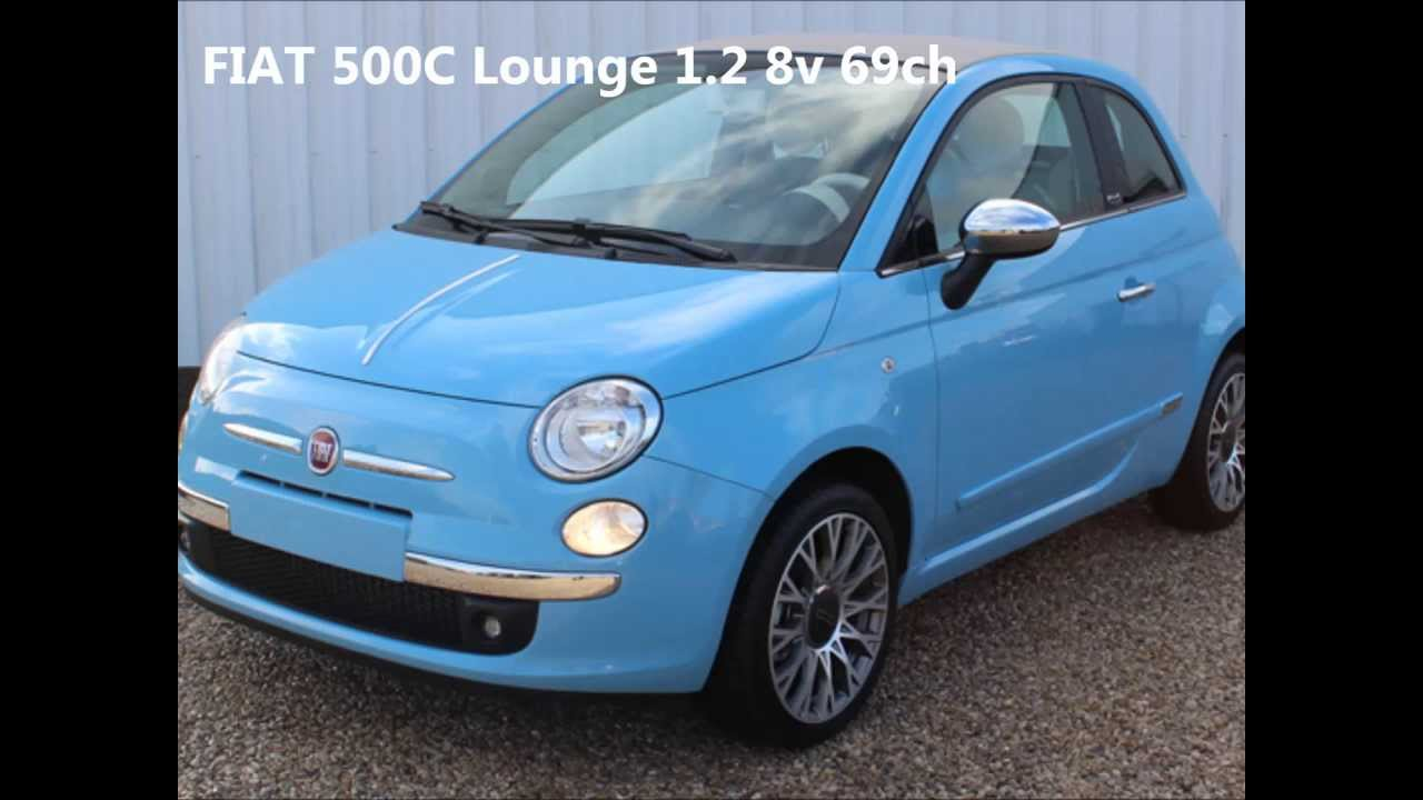 achat fiat 500 c lounge en stock chez auto ici votre mandataire auto youtube. Black Bedroom Furniture Sets. Home Design Ideas