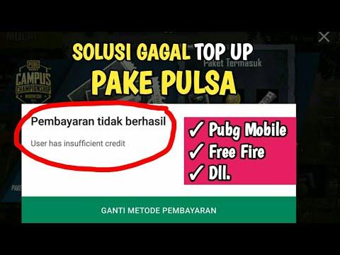 Solusi Gagal TopUp Game Online Menggunakan Pulsa