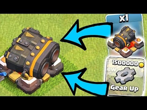 Thumbnail: NEW LVL 15 GEARED CANNON!! | Clash of clans | OP WEAPON!!
