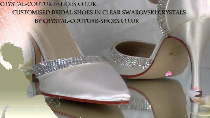 937d1277b1e3b3 Ivory Satin   Swarovski Crystal Customised Wedding Shoes By Crystal-Couture- Shoes