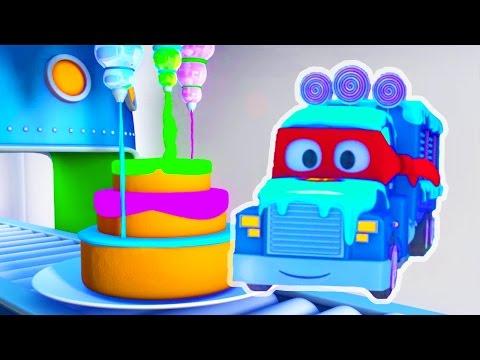 Carl der Transformer Truck und der Eiswagen in Autopolis | Auto und Lastwagen Bau Cartoons