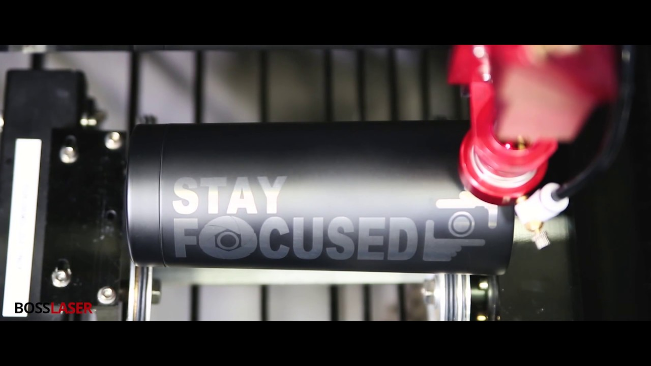 1d59a161e11 Laser Engraving Black Anodized Aluminum Tumbler - Boss Laser - YouTube