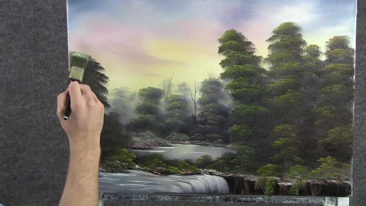 Paint With Kevin Hill Waterfall In The Trees Wet On Wet