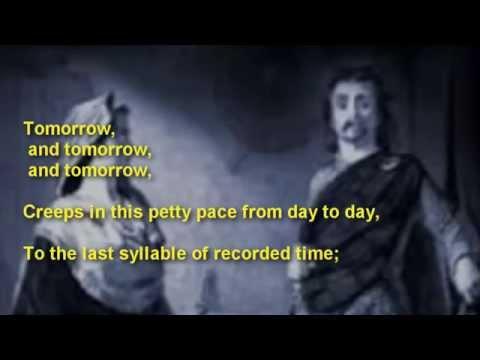 "Famous Shakespeare ~ Macbeth ~ "" Tomorrow and tomorrow and tomorrow"