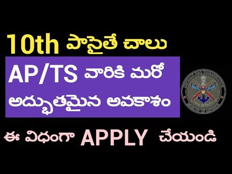 MINISTRY OF DEFENCE JOBS IN AP TS APPLY NOW NO FEE 10TH INTER DEGREE JOBS