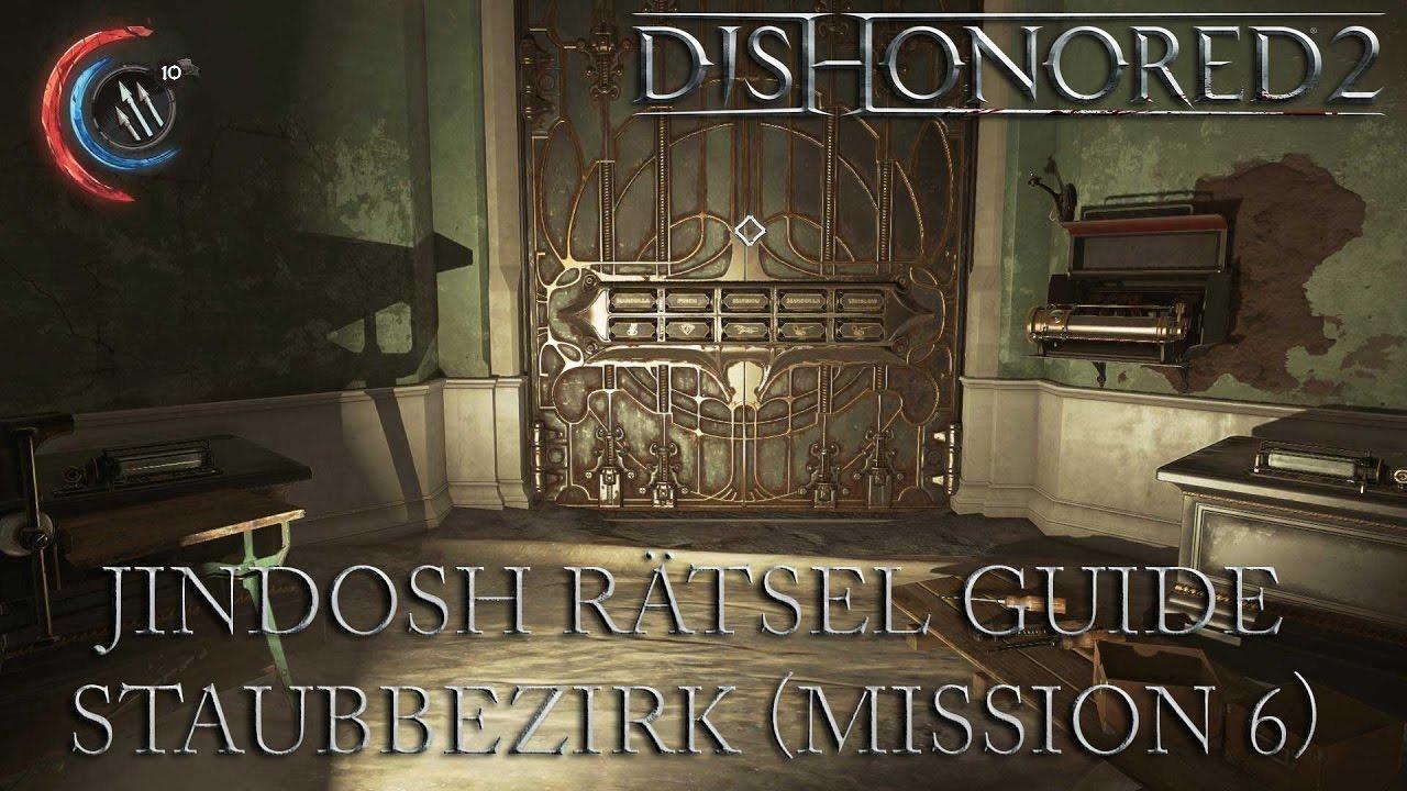 Dishonored 2 Jindosh Rätsel Lösung