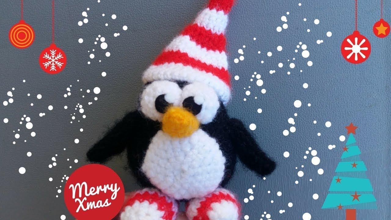 Tutorial Amigurumi Pinguino : Amigurumi pinguino natalizio tutorial 🎄 youtube