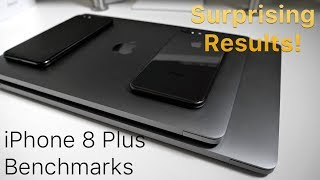 iPhone 8 Plus vs 7 Plus and MacBook Pro's - Benchmark Comparison