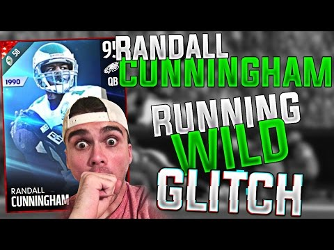 RANDALL CUNNINGHAM IS SO FAST! HUMAN GLITCH! MADDEN 17 ULTIMATE TEAM