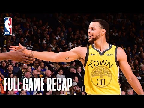 Pistons vs Warriors | Steph Curry & Klay Thompson Lead Golden State | March 24, 2019