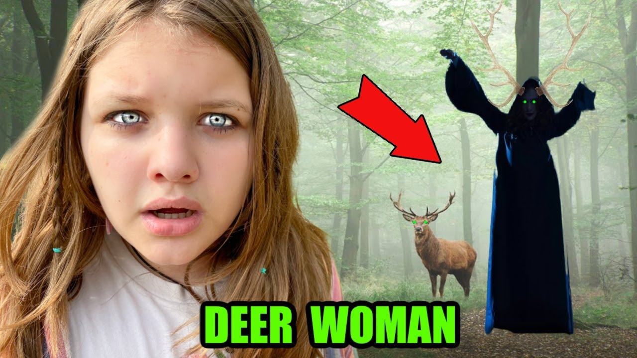 We LOOKED for the DEER LADY in the WOODS! SCARY DEER WOMAN URBAN LEGEND!