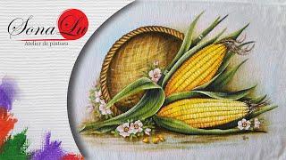 Milhos em Tecido – Sonalupinturas