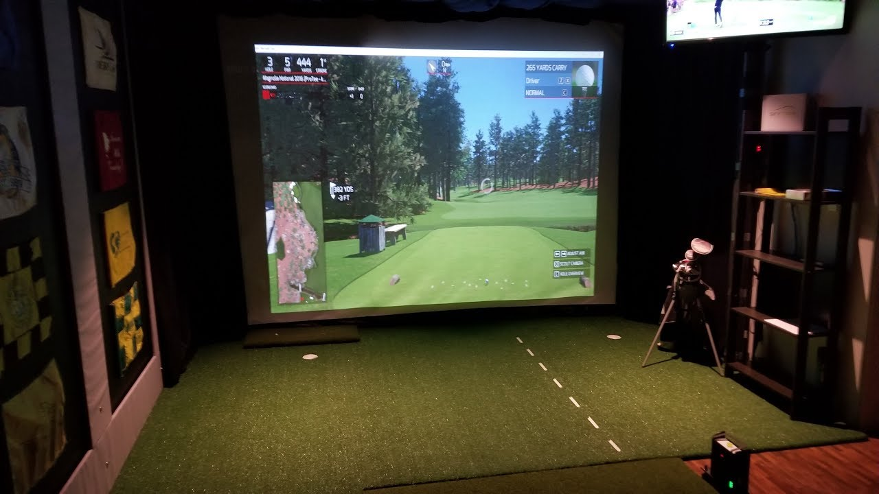 My Golf Simulator Room - YouTube