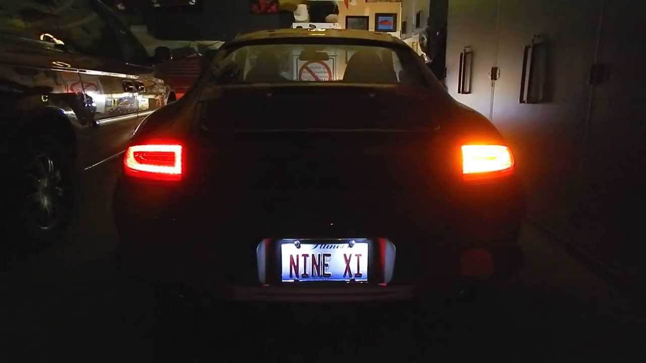 Depo Led Tail Lights For Porsche 996 At Night Youtube