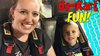 Family Fun at the Arcade!  Go Karts, Video Games & Air Hockey
