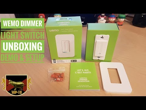 Wemo Dimmer Light Switch - Unboxing, Demo & Setup - YouTube on