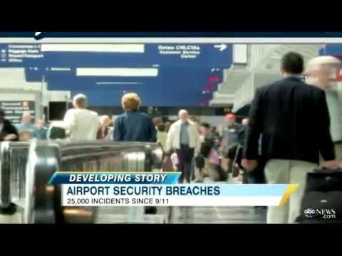 airport security breaches up since 9 11 youtube