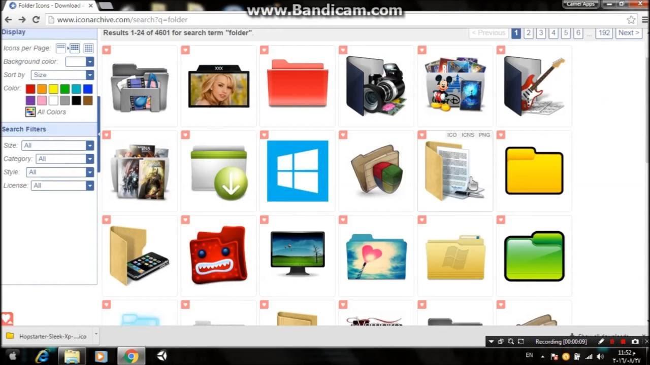 change color of folder icons windows 7