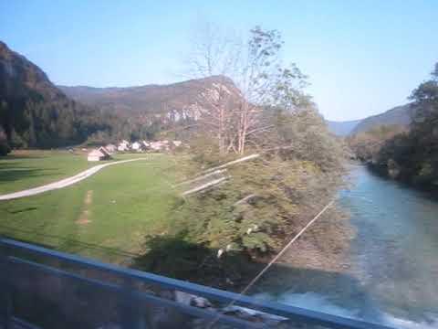 Driving by bus through Slovenia