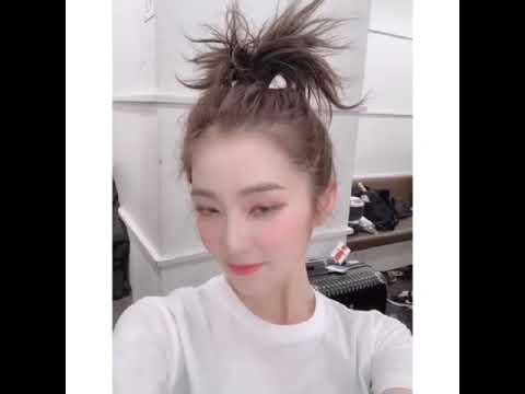 看到lrene裴珠泫的头发被弄成这样,我笑了,姐姐真美