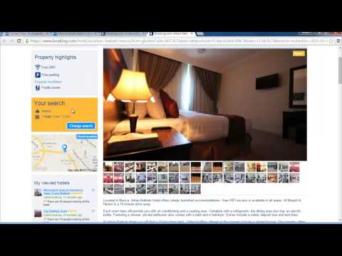 How to book hotel for Umrah in booking.com website