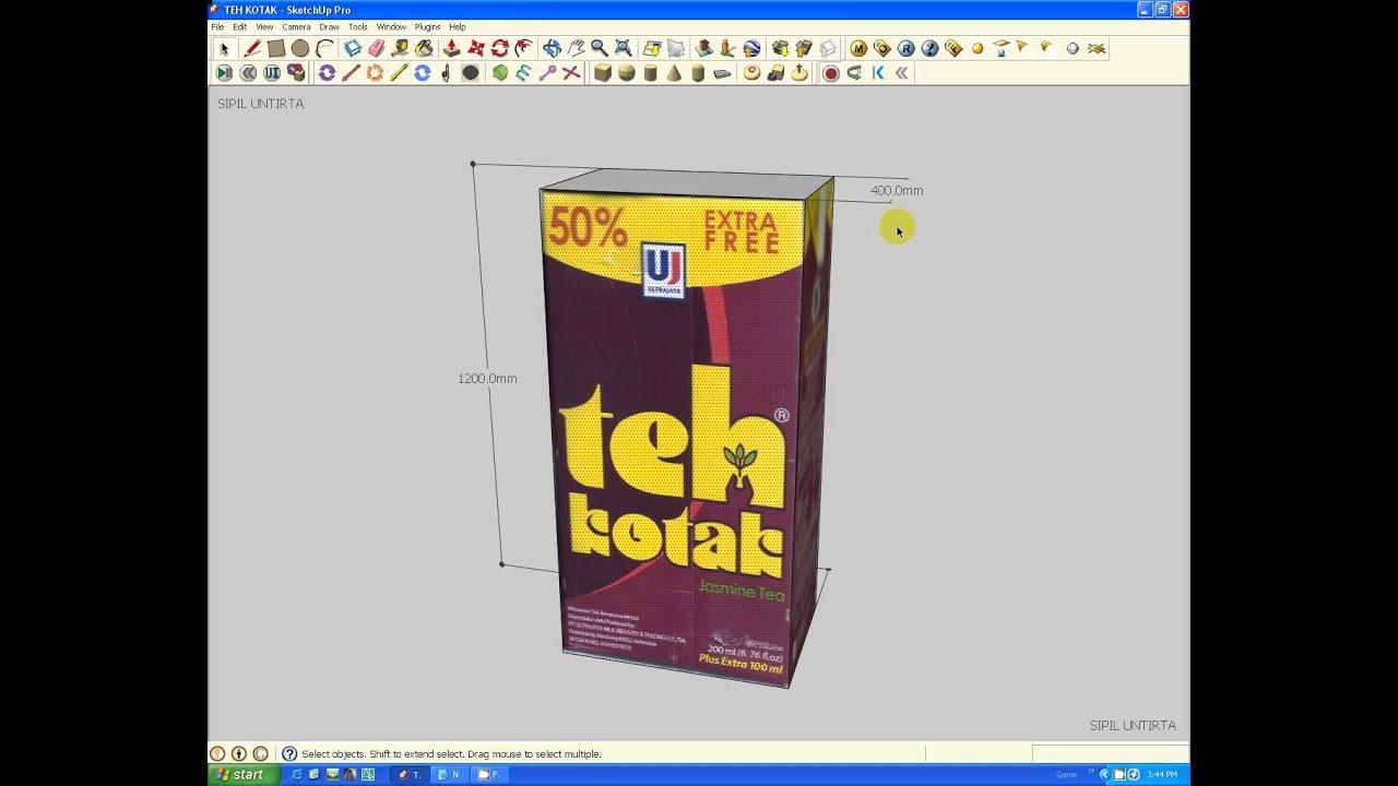 tutorial 3d model teh kotak - YouTube 1b6af63659