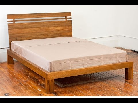 Solid Wood Bed Frame Youtube
