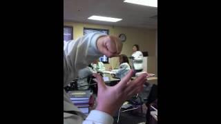 Nurse Vernon's rendition of a cardiac hand-job