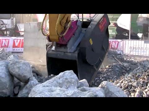 Video Drtící lopata na kámen a beton VTN FB série
