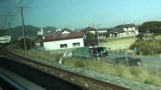 JR日豊本線 車窓 南行橋駅~行橋駅(813系1100番台ワンマン)