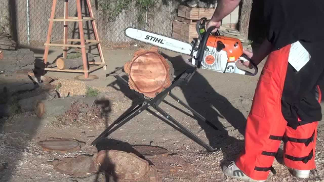 new stihl ms 441 r cm chain saw first cuts youtube. Black Bedroom Furniture Sets. Home Design Ideas