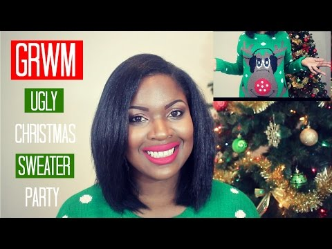 GRWM Ugly Christmas Sweater Party ft. Carli Bybel Makeup Palette thumbnail
