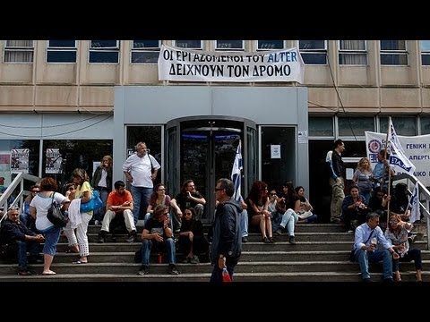Belgian journalists protest at Greek TV station closure