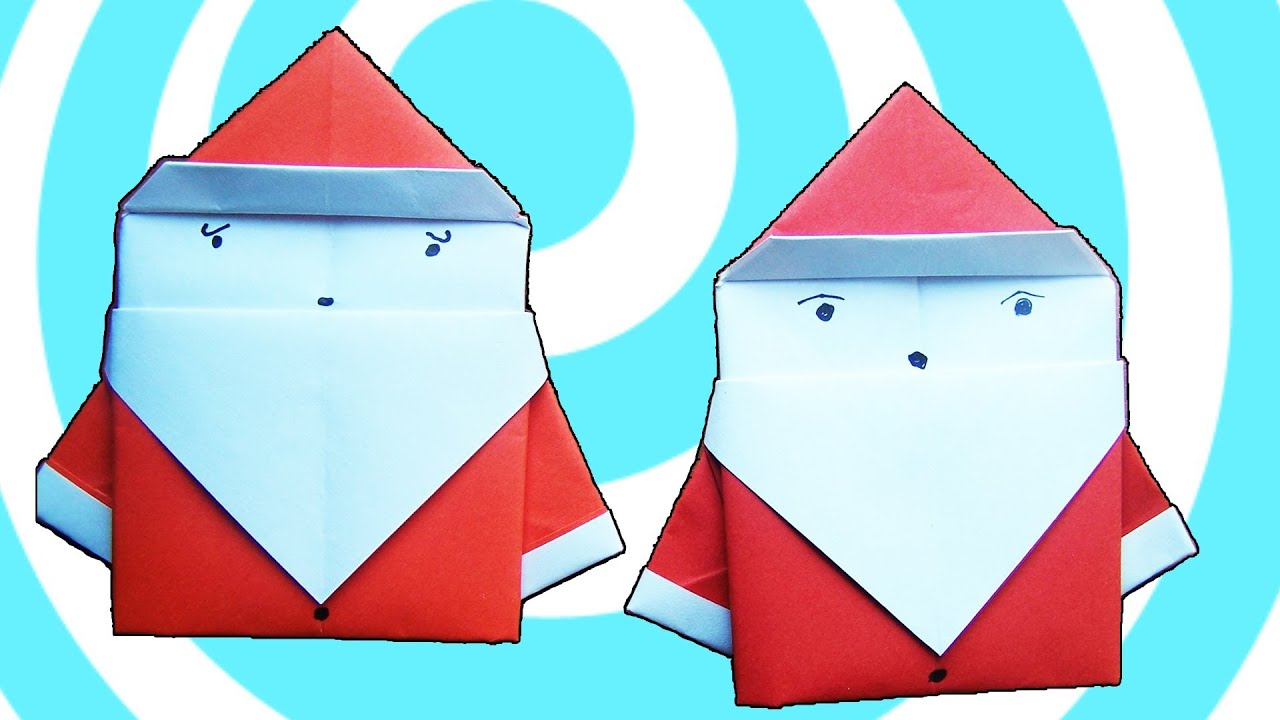 Origami santa claus instructions youtube