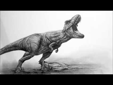 연필드로잉 - 공룡그리기 1배속 영상 (45분)