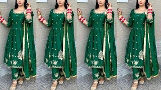 Karwa Chauth Special❣Boutique style Punjabi suit Design   Party wear Dress   designer dress ideas