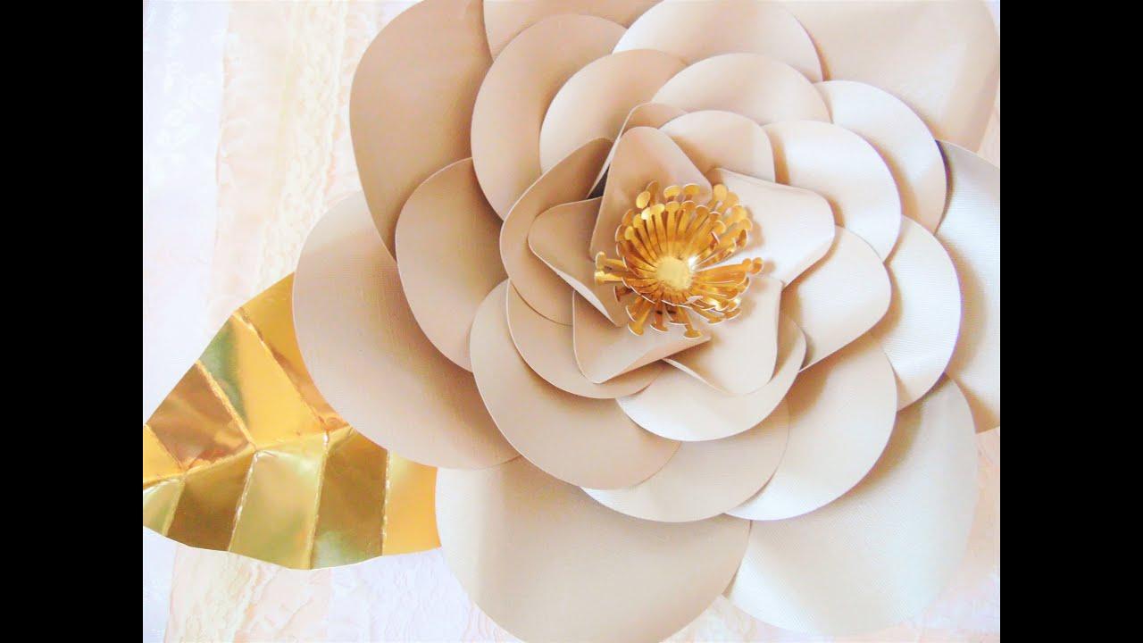 Gold poppy paper flower youtube mightylinksfo