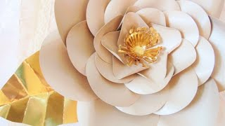 Gold Poppy Paper Flower
