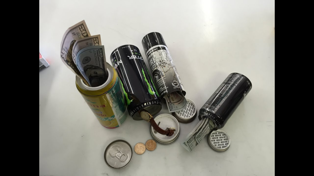 How To Make A Homemade Stash money cash Can Out Of Soda Pop Beer