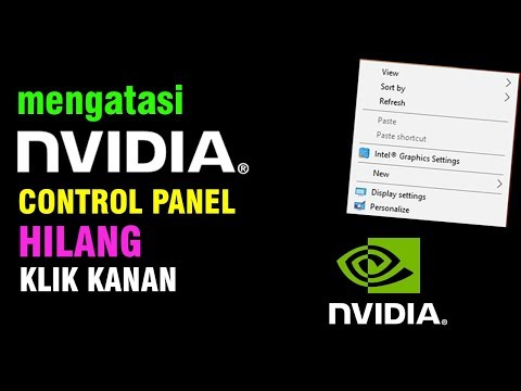 Mengatasi Nvidia Control Panel Hilang Windows 10