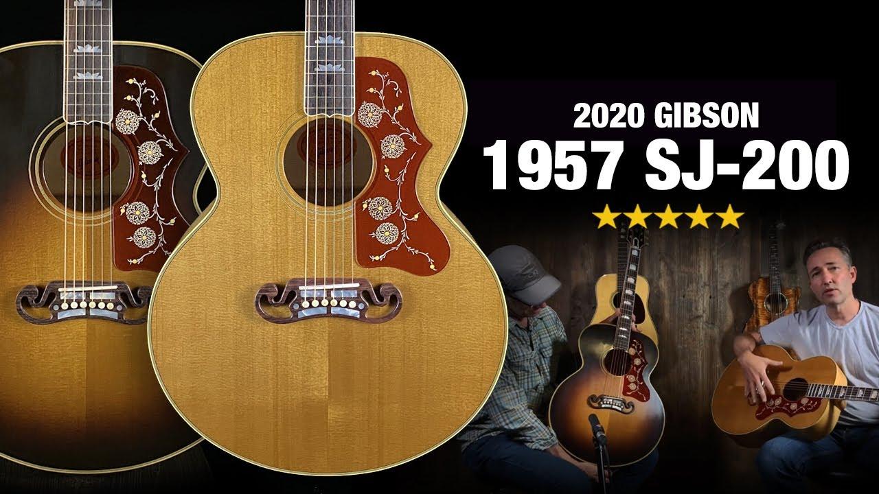 Gibson 1957 SJ-200 - Antique Natural and Vintage Sunburst